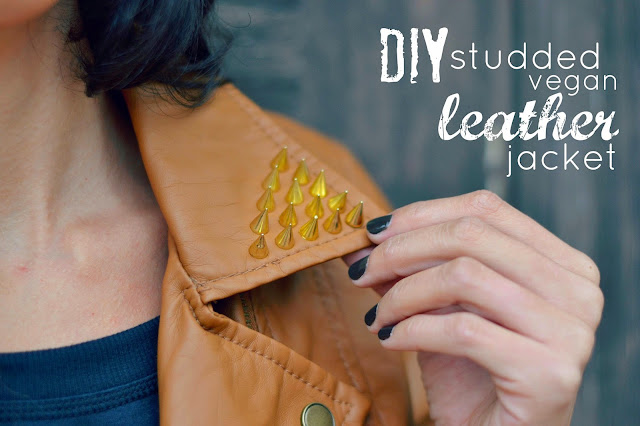 Mommy Testers, DIY studded leather jacket, How to add studs to a jacket, get the look, look for less, 2103 fashion trends, searsStyle #ThisisStyle #shop #cbias