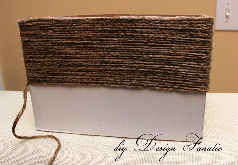 Basket Making Jute : Diy design fanatic make a basket from wine box