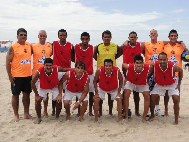 Equipe de beach Soccer do CR Flamengo - RJ
