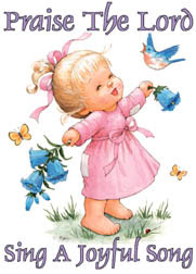 sing a joyful song in praising the lord kid drawing art picture