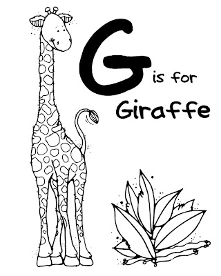 Hand print coloring pages printable for Animal coloring pages giraffe