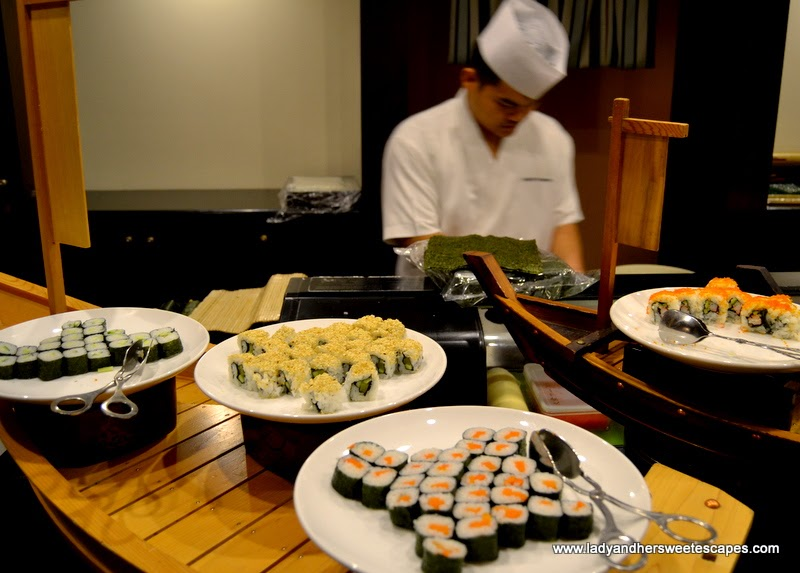 Japanese rolls at Minato in Radisson Blu Dubai