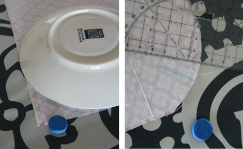 Hot water bottle cover pattern - making the bottom