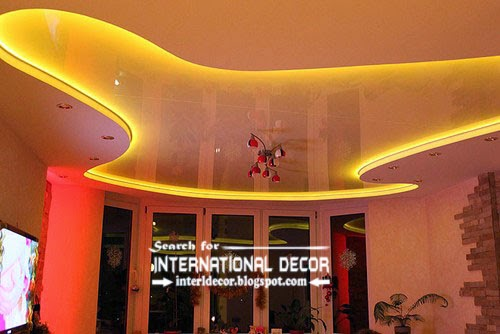LED ceiling lights, LED strip lighting, stretch ceiling with led lights