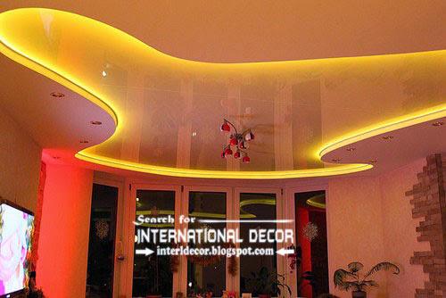 LED ceiling lights, LED strip lighting, stretch ceiling with led lights