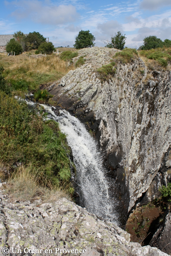 The Droc waterfall near Nasbinals