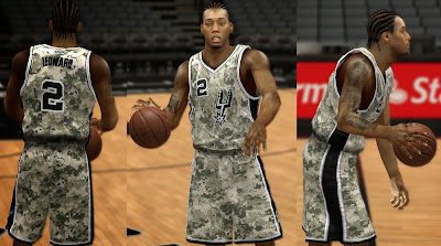 NBA 2K14 Spurs Camouflage Military Alternate Jersey