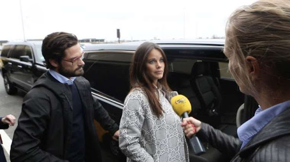 Prince Carl Philip and Princess Sofia Hellqvist of Sweden are in New York a private visit. Yesterday at lunch local time Carl Philip and Sofia landed at Newark outside New York
