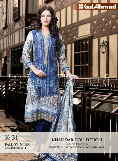 Gul Ahmed Winter Khaddar Dresses 2015
