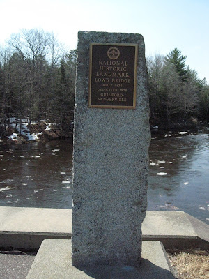 Nosing Around Maine - Marker at Low's Bridge