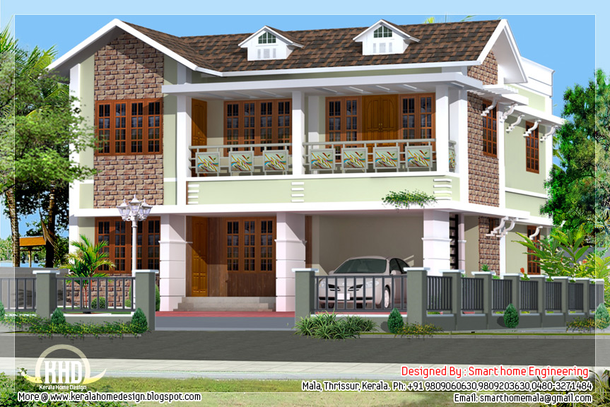 3 Bedroom Villa Elevation Design Home Sweet Home