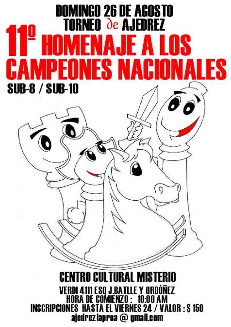 11° Homenaje a los campeones nacionales Sub-8 y Sub-12