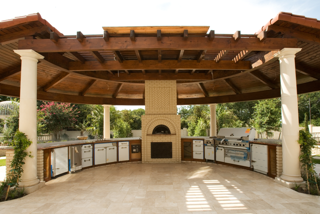 Office design and furniture for Outdoor kitchen gazebo design