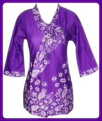 Aneka warna model baju batik pramugari trendy
