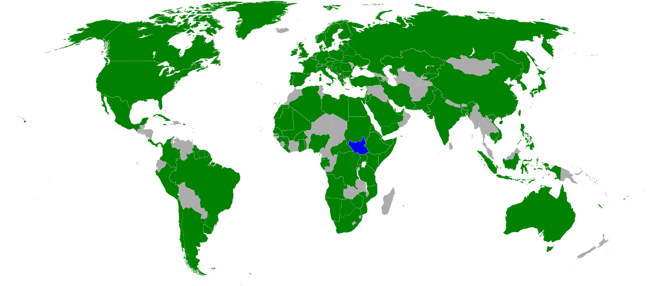 South sudan gains further recognition political geography now countries which have officially stated their recognition of south sudans sovereignty green south sudan in blue modified from this wikimedia map public gumiabroncs Gallery