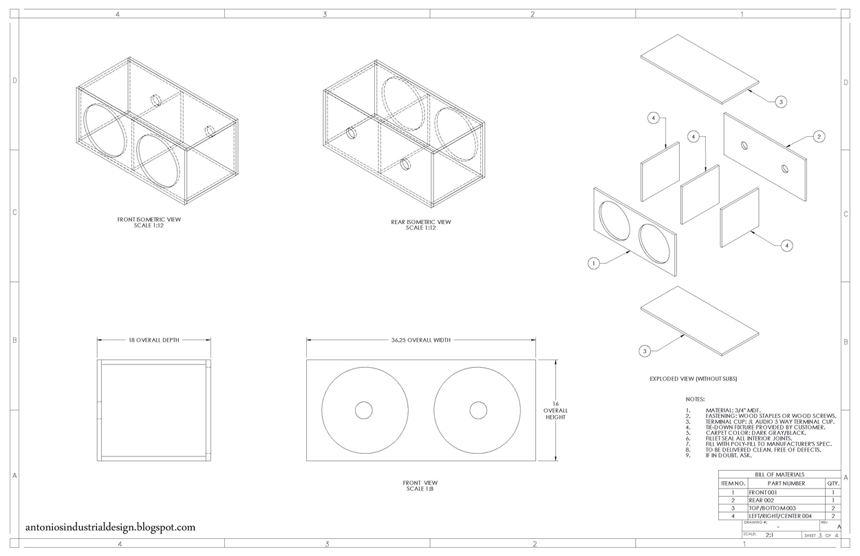 Antonios Industrial Design Subwoofer Box Chronicles Under Carpet Wiring Methods Free Download Diagram Schematic Page 3 4 Fabrication And Notes