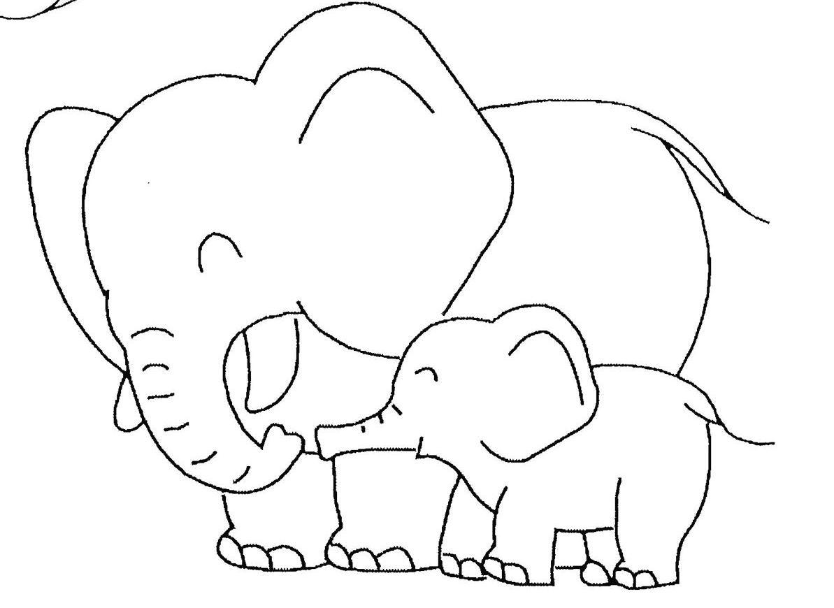 mewarnai binatang gajah untuk anak tk 5
