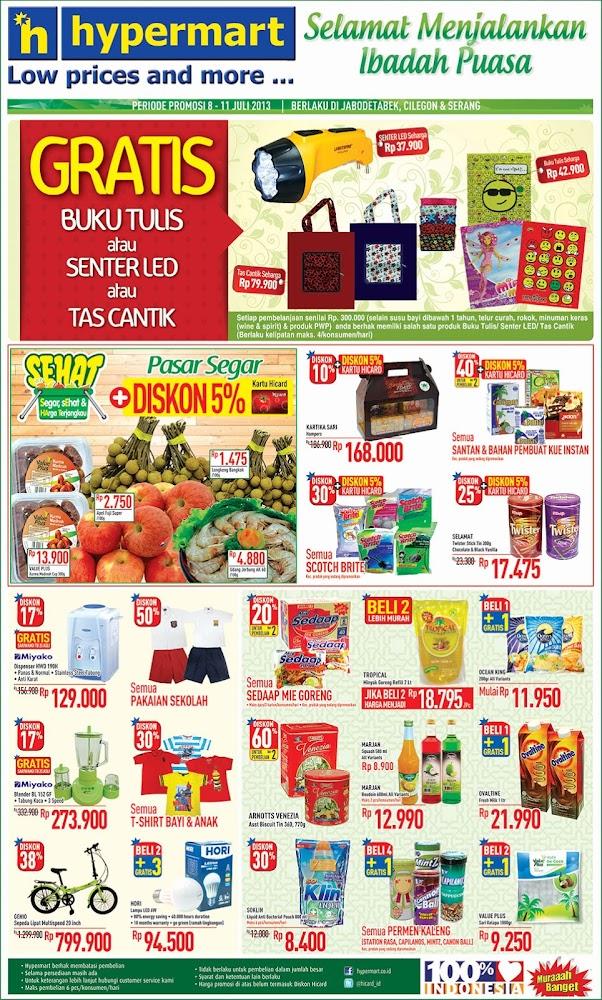Hypermart Weekday Promo Terbaru Periode 8 – 11 Juli 2013