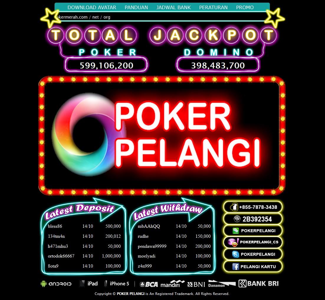 Tampilan Logo PokerPelangi.com Agen Texas Poker Domino Online Indonesia Terpercaya