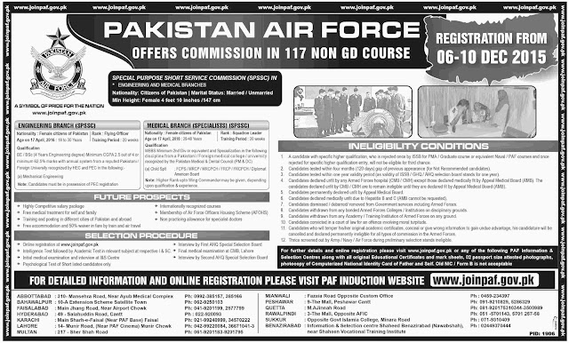 Join PAF Engineering & Medical Branch, Female Only