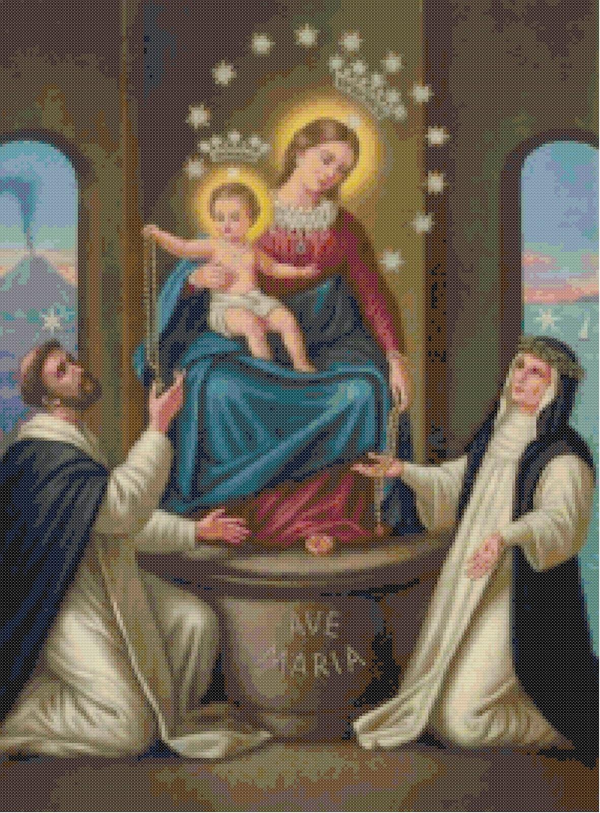 Obraz znaleziony dla: matka boża różańcowa obraz