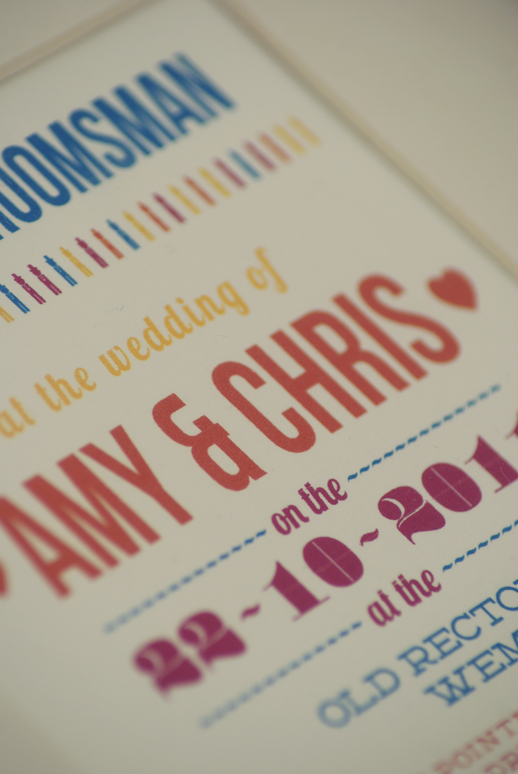oneafternine - wedding stationary