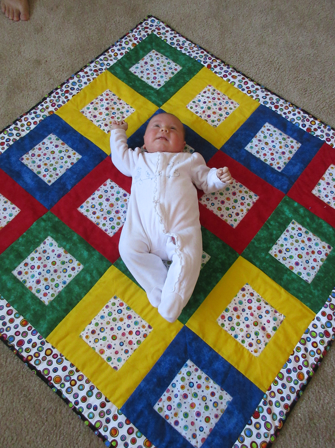 baby quilt for Annalise