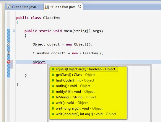 how to call a method from another class using java