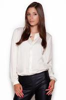 Camasa eleganta, de culoare crem, cu guler tip tunica ( )