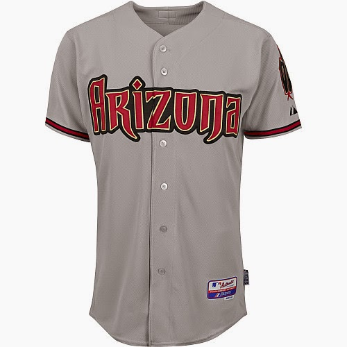 Majestic Athletic Arizona Diamondbacks Blank Authentic Road Cool Base Jersey