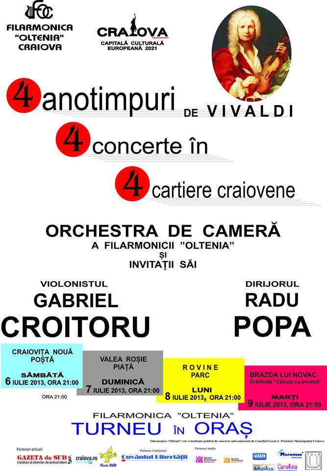 Filarmonica Oltenia Craiova, 4 cartiere, 4 anotimpuri cu Vivaldi