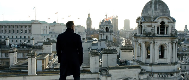 007 Skyfall - James Bond - panorama Londra