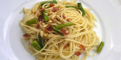recetas de cocina espaguetis esparragos y jamon