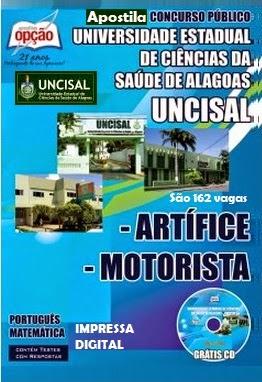 Apostila para Concurso Público UNCISAL 2014 para CARGOS DE NÍVEL FUNDAMENTAL - Artífice e Motorista.