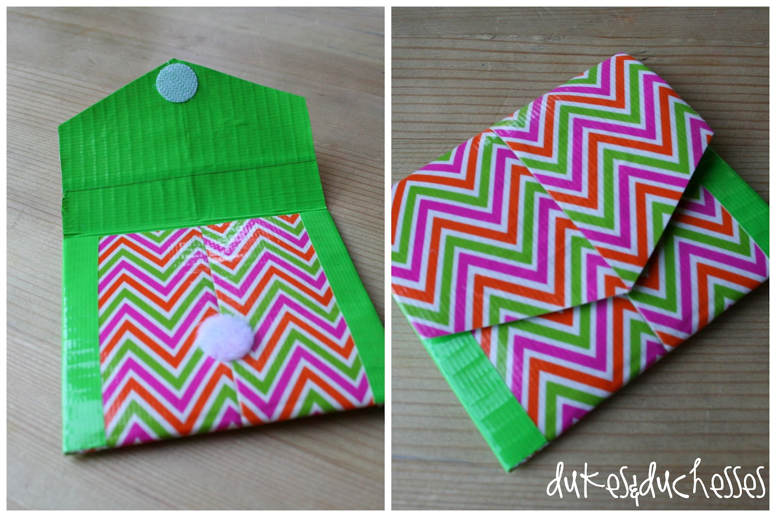 A duct tape pocket dukes and duchesses for Duck tape craft ideas