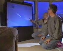IMAGES FROM THE UFO TV DOCUMENTARY MAGNIFICENT OBSESSIONS. BRIAN VIKE AND CHRIS RUTKOWSK.