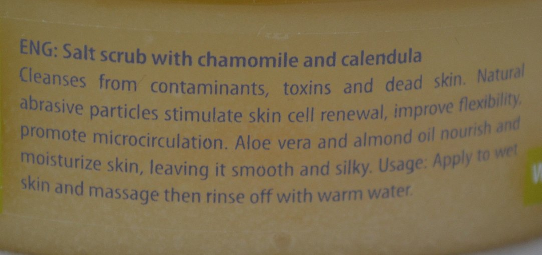 Bio2you SPA Body Salt Scrub with Chamomile & Calendula information