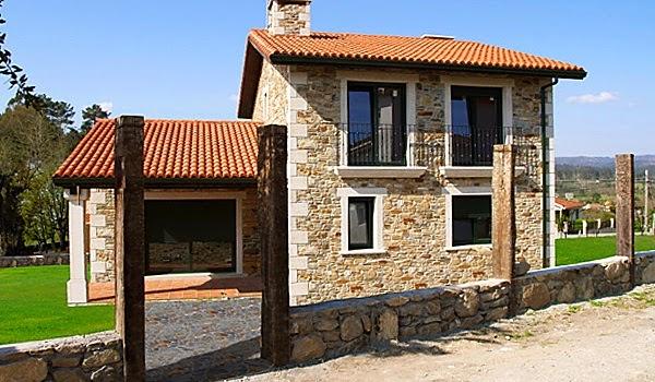 Fachadas de piedra fachadas de casas con piedras en venezuela - Techos modulares ...