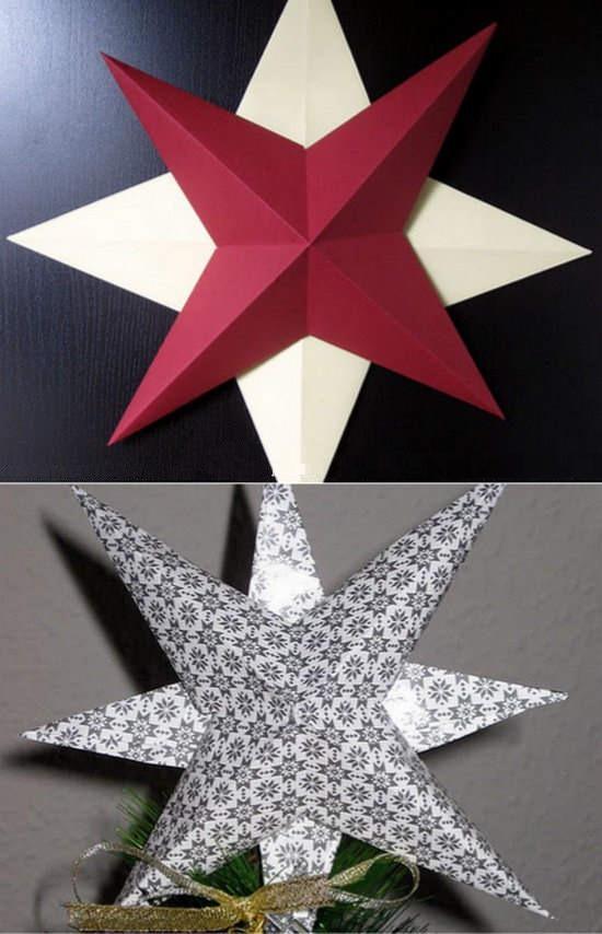 Manos a la obra como hacer una estrella en relieve de - Como hacer estrellas de navidad ...