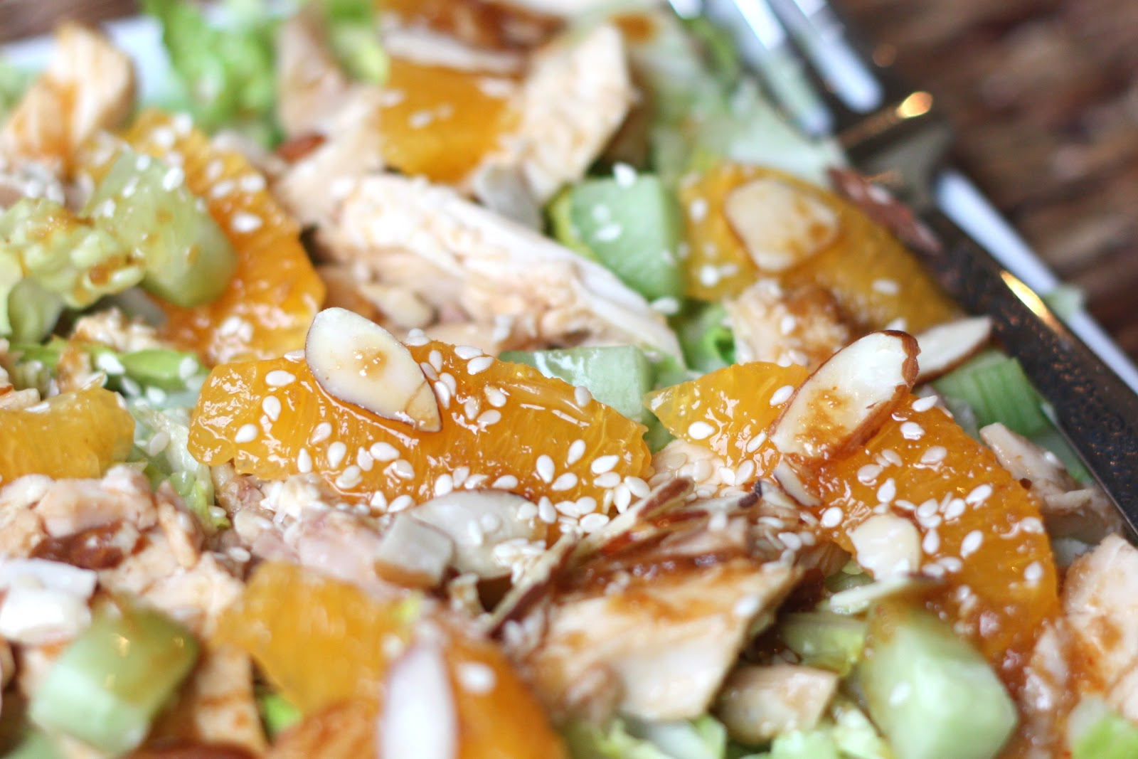 ... everything sprinkle with sesame seeds and almonds just before serving