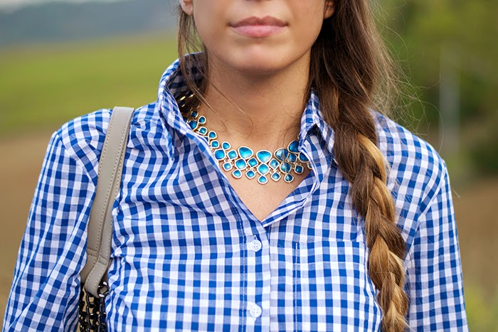 camicia quadretti bianco blu