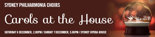 Reserve your tickets.  CHRISTAMS at the Sydney Opera House!