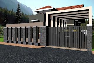 desain pagar rumah modern