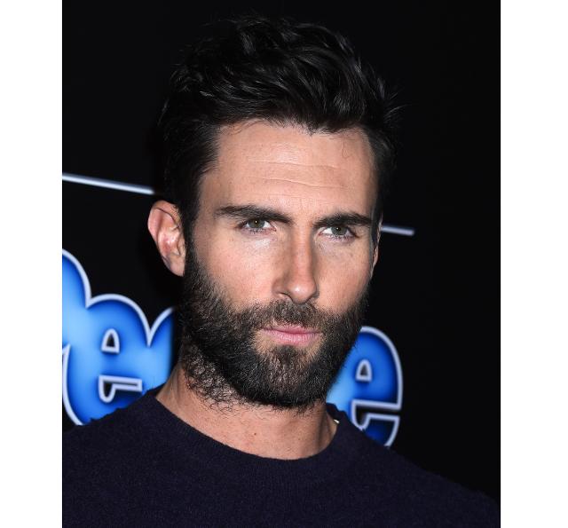 Cantante Adam Levine con barba