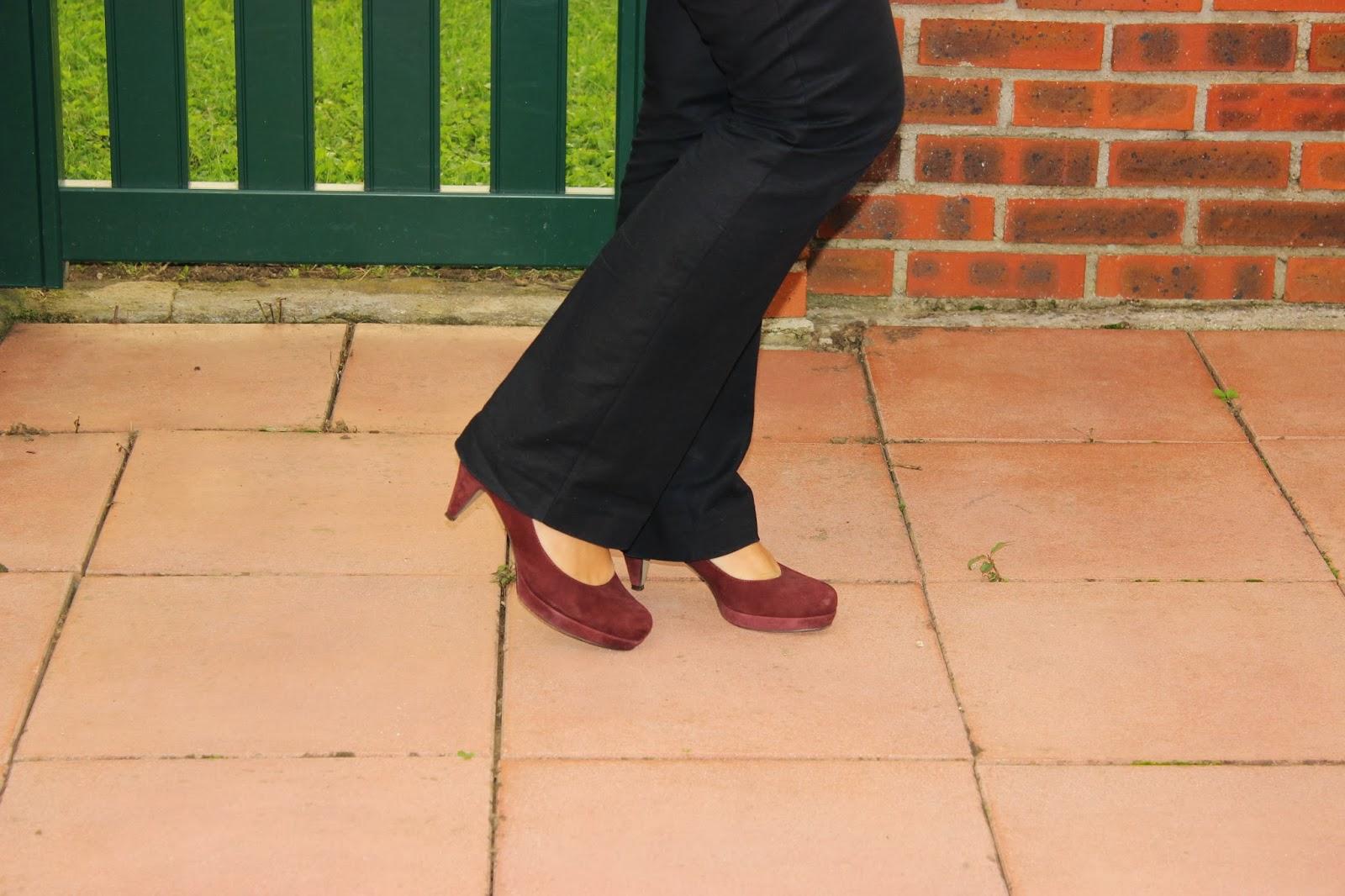 chaussures A petits Points bordeaux blouse Charlise