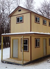 Tuff shed at the home depot december monthly features for Home depot tiny house 2 story