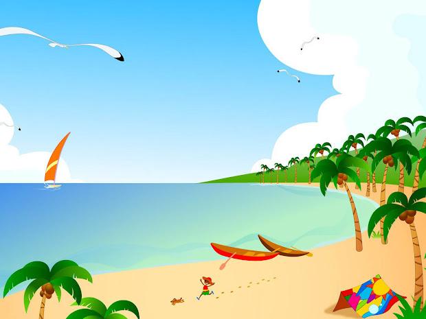 wallpaper vector beach