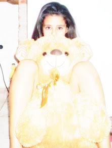 con el oso más lindo de todos♥
