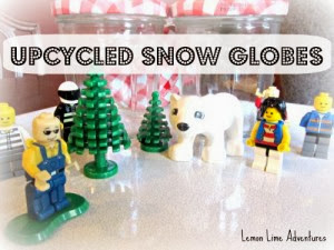 Upcycled LEGO Snow Globes by: Lemon Lime Adventures