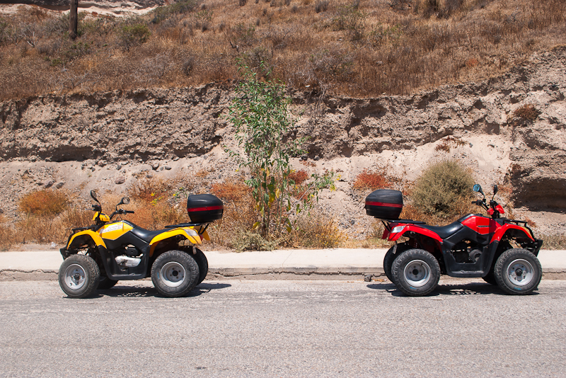 ATVs in santorini greece